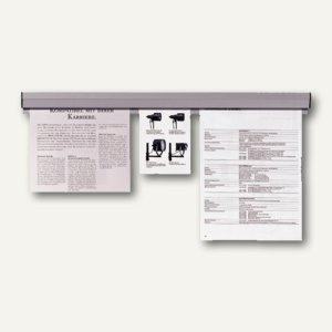 Franken Papierklemmschiene, 4 x 118 cm, grau, PKS118