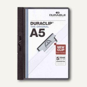 Durable Klemmhefter DURACLIP, DIN A5, bis 30 Blatt, schwarz, 25 Stück, 2217-01