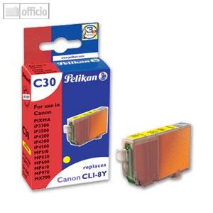 Pelikan Tintenpatrone C30 für Canon CLI-8y, 13ml, yellow, mit Chip, 361721