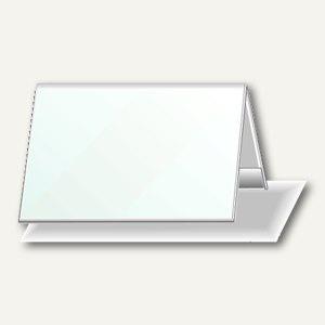 Durable Tischnamensschild Dachform 52/104 x 100 mm, Hartfolie, 25 St., 8051-19