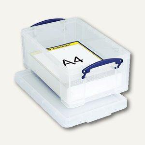 Deckelbox 9 Liter, 395 x 255 x 155 mm, für DIN A4 oder CDs/DVDs, transparent, 9C