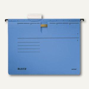 LEITZ Alpha Hängehefter für DIN A4, kaufm. Heftung, blau, 5 Stück, 19843035