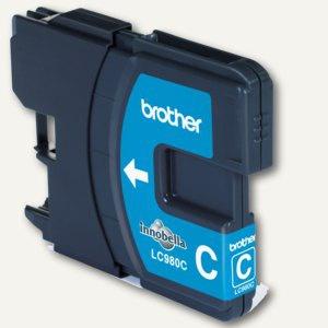Brother Tintenpatrone LC980C für DCP145C/165C/185C, ca. 260 Seiten, cyan, LC980C