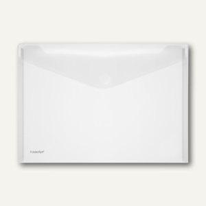 FolderSys Dokumententaschen DIN A4 quer, klar, Klettverschluß, 100 St., 40101-04