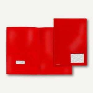 Broschüren-Mappe A4, PP, Abheftlaschen, Taschen/Innen, 2x 50 Bl., 20 St.