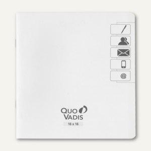 """Quo Vadis """" Executif"""" Adress-/Telefonverzeichnis - 16 x 16 cm, weiß, 711020Q"""