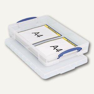 Aufbewahrungsbox 10 Liter, für DIN A3, 520 x 340 x 85 mm, transparent, 4802870