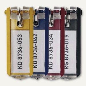 Durable Schlüsselanhänger KEY CLIP, farbig sortiert, 30 Stück, 1957-00