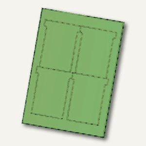 Ultradex T-Karten, bedruckbar, 92 x 120 mm Breitformat, pistazie, 80 St., 543455