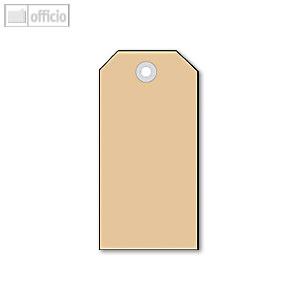 Textil-Etiketten mit Kunststofföse, Anhängezettel, 35 x 60 mm, 1.000 St., 6012