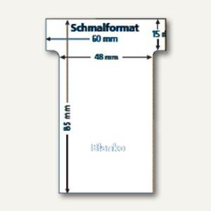 Ultradex T-Karten, blanko, Schmalformat, weiß, 100 Stück, 542258