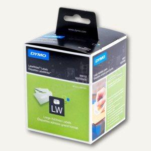 Dymo Adress-Etiketten, permanent, 36 x 89 mm, weiß, 2 x 260 Stück, S0722400