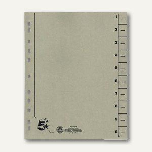 officio Trennblätter für DIN A4, 24 x 30 cm, Karton 230 g/m², grau, 100 St.