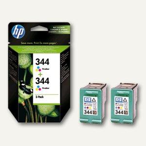 HP Tintenpatronen Nr. 344, Tricolor, Doppelpack, C9505EE