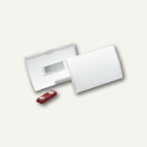 Durable Namensschild Click Fold, 90 x 54 mm, Magnet, transp., 10 St., 8215-19