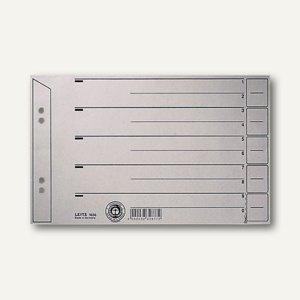 LEITZ Trennblätter DIN A5 quer, grau, 100 Blatt, 1656-00-85