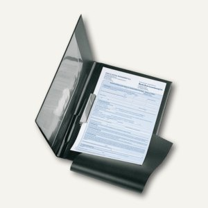 Clipboard Auftragsmappe, A4, Nappafolie, Abheftmechanik, schwarz, 5240080