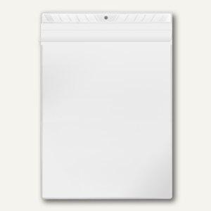 Sichttasche, A4, PP 140 my, Überfallklappe, mittige Lochung, 100 Stück, 3304000 - Vorschau