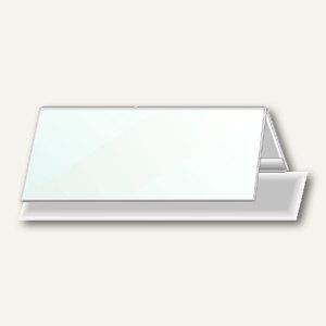 Durable Tischnamensschild Dachform 105/210 x 297 mm, Hartfolie, 25 Stück, 8053-19