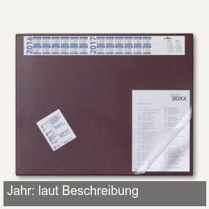 Schreibunterlage - 65 x 52 cm, Vollsichtfolie, 4-Jahreskalender, rot, 7204-03