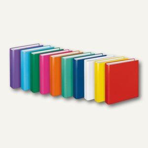 """Ringbücher """" Basic"""", DIN A5, PP, 2 D-Ringe Ø 25 mm, sortiert 10 Farben, 10 Stück,"""
