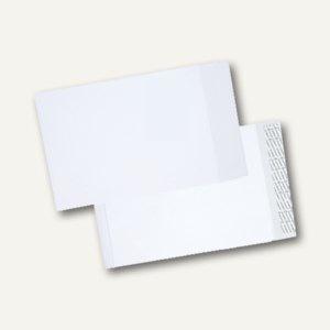 Faltentaschen C4, 40mm Falte, haftklebend, ohne Fenster. weiß, 100 St., 30007062