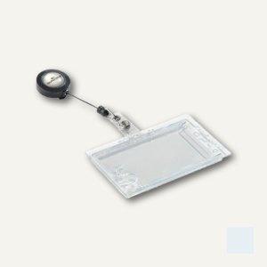 Ausweishalter mit Jojo, 87 x 54 mm, geschlossen, doppelt, 10 Stück, 8224-19
