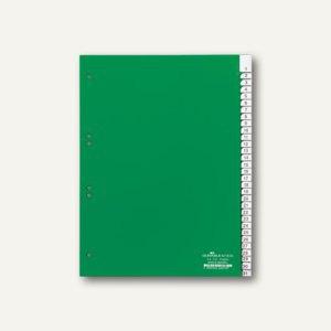 Kunststoff-Register DIN A4, 1-31, Schilder bedruckbar, 31-tlg., grün, 6219-05
