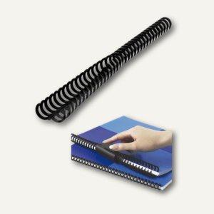 Binderücken ClickBind + Zipper, A4, 34 Ringe, Ø 8 mm, schwarz, 50 Stück, 388019E