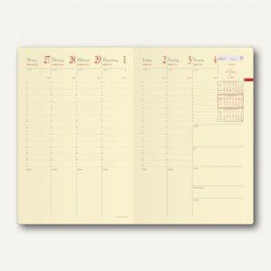 Minister Prestige Soho Terminkalender -16 x 24 cm, 1 Woche/2 Seiten, schwarz