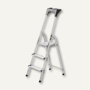 Brennenstuhl Alu-Haushaltsleiter, 3 Stufen, Arbeitsschale, 1401230