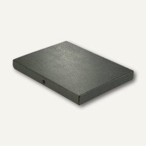 Dokumentenmappe DIN A4, Druckknopf, 30 mm bis 280 Blatt, Karton 350 g/m², schwar