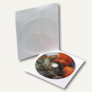 CD Papiertasche mit Sichtfenster, 125 x 125 mm, selbstklebende Klappe, 100 Stück