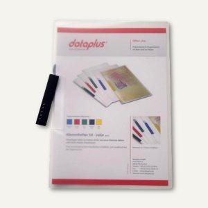 Klemmhefter DIN A4, PP, bis 50 Blatt, Klemme anthrazit, transparent, 25 Stück