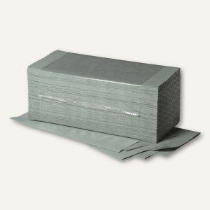 Papierhandtücher, 25 x 23 cm, Zick-Zack V-Falz, grün, Krepp-Qualität, 5.000 St.