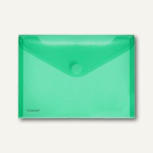 FolderSys Dokumententaschen, DIN A5 quer, Klett, grün, 100 Stück, 40102-54