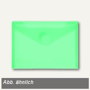FolderSys Umschlag transparent grün, DIN A6 quer, PP, Klett, 100 St., 40116-54