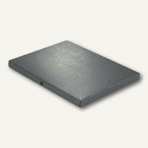 Dokumentenmappe DIN A4, Druckknopf, 20 mm bis 180 Blatt, Karton 350 g/m², schwar