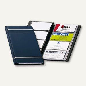 Visitenkartenalbum VISIFIX 96, 118 x 250 mm, 96 Karten, Zierstreifen, dunkelblau