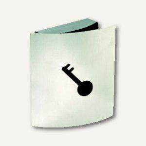Alco Schlüsselkasten, 215 x 245 x 60 mm, 9 Haken, Magnetschnapper, Metall, 875 - Vorschau