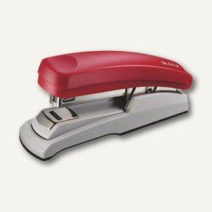 LEITZ Heftgerät 5505 Flat-Clinch, für Klammer 24/6 und 26/6, rot, 5505-00-25