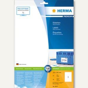 """Herma Universal-Etiketten """" PREMIUM"""", 210 x 297 mm, weiß, 50 Stück, 8637"""