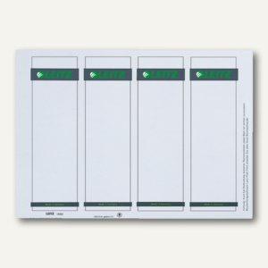 Einsteck-Rückenschilder für PC Beschriftung, breit, weiß, 100 St., 1680-00-85