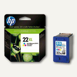 HP Tintenpatrone Nr.22XL, dreifarbig cyan/magenta/gelb, C9352CE - Vorschau