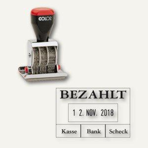 """Colop Textplatten-Datumstempel 04060/L """" Bezahlt"""", 4200462002 - Vorschau"""