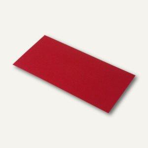 Rössler Briefumschläge mit Seidenfutter DL, 100g/m², rot matt, 100 St., 16400236