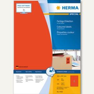 "Herma Etiketten "" SPECIAL"", 210 x 297 mm, permanent, rot/matt, 100 Stück, 4402"