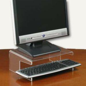 Monitorständer für TFT m. Tastaturablage, 290 x 230 mm, transparent, 761120