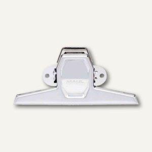 MAUL Montage-Klemmer, Breite 125 mm, Klemmweite 20mm, nickel, 10 St., 2253096