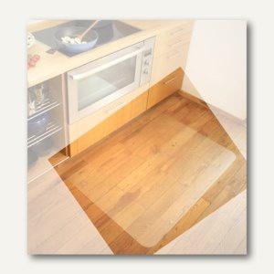 Bodenschutzmatte für Hartböden, 74 x 120 cm, transparent, Polycarbonat
